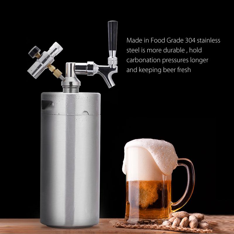 Kitchen 4l 2l Stainless Steel Beer Keg Homebrew Keg Mini