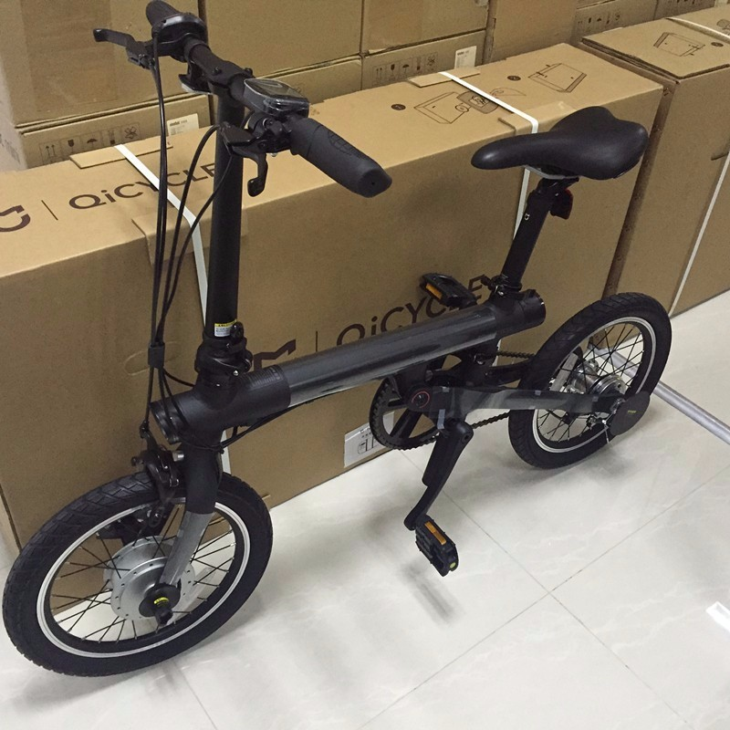 16inch original xiaomi eelectric bike qicycle mini electric ebike portable smart folding bike. Black Bedroom Furniture Sets. Home Design Ideas