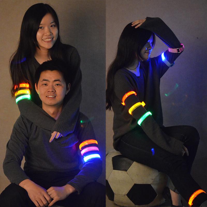 Night jogging Running Bike LED Arm Leg Band Night Warning Safety Wristband