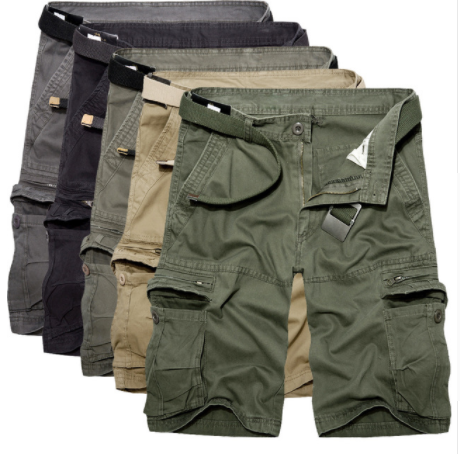 new release nice shoes super service 2019 Mens Military Cargo Shorts Summer Army Green Cotton Shorts Men Loose  Multi-Pocket Shorts