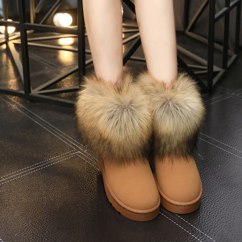 4b59d2e983 Women's Shoes Thick Fur Fashion Snow Boots 2019 New Winter Cotton Warm  Shoes For Women 11 Models