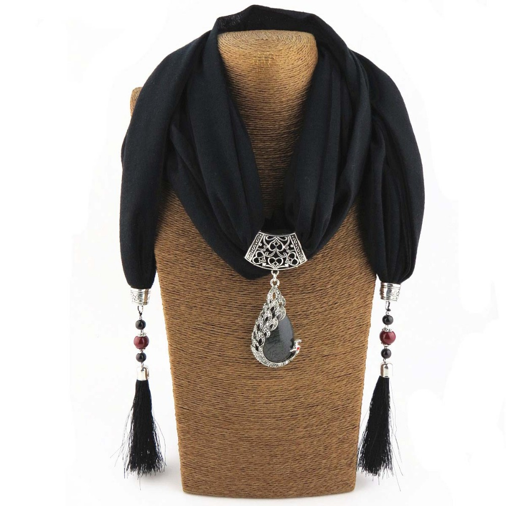 Women scarf pendant nature stone pendant tassel scarf jewelry with women scarf pendant aloadofball Image collections