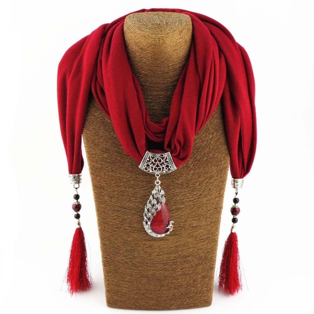 Women scarf pendant nature stone pendant tassel scarf jewelry with women scarf pendant aloadofball Images