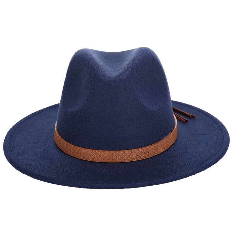 2018 Autumn Winter Sun Hat Women Men Fedora Hat Classical Wide Brim ... 72afd6dac09